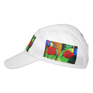 Pair of Colorful Parakeets Hat