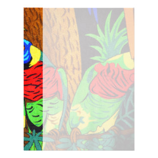 Pair of Colorful Parakeets Letterhead