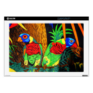 Pair of Colorful Parakeets Skins For Laptops