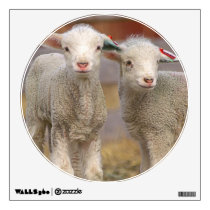 Pair of commercial Targhee Lambs Wall Decal