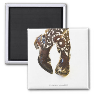 Pair of cowboy shoes 2 2 inch square magnet