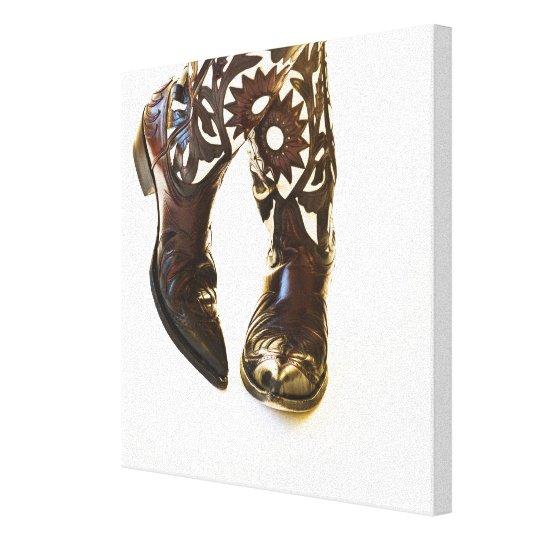 Pair of cowboy shoes 2 canvas print