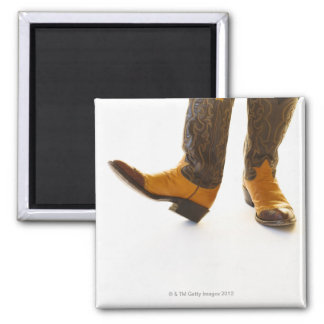Pair of cowboy shoes 2 inch square magnet