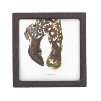 Pair of cowboy shoes 2 jewelry box