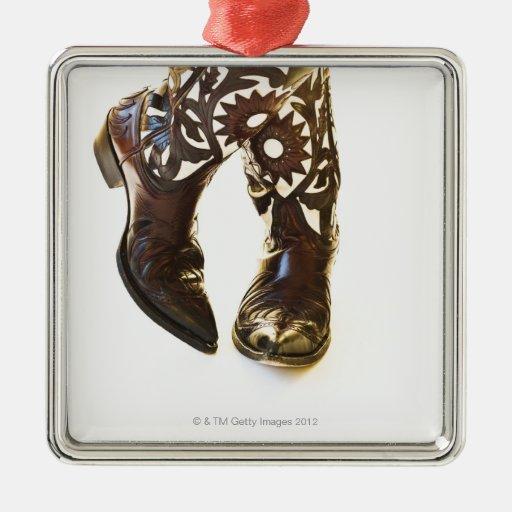 Pair of cowboy shoes 2 metal ornament