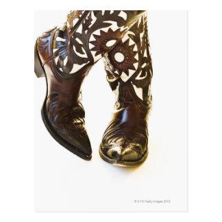Pair of cowboy shoes 2 postcard