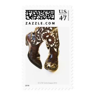 Pair of cowboy shoes 2 stamp