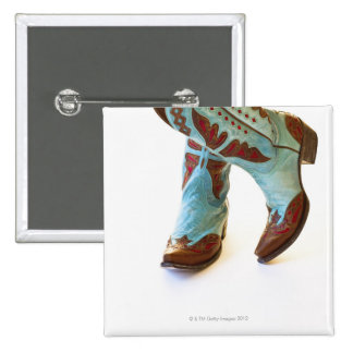 Pair of cowboy shoes 3 2 inch square button