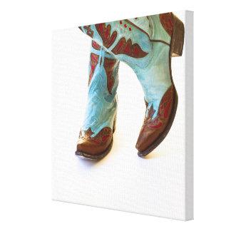 Pair of cowboy shoes 3 canvas print