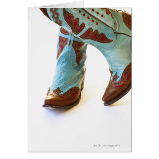 Pair of cowboy shoes 3 cards