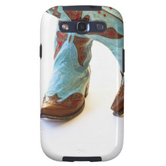 Pair of cowboy shoes 3 galaxy SIII covers