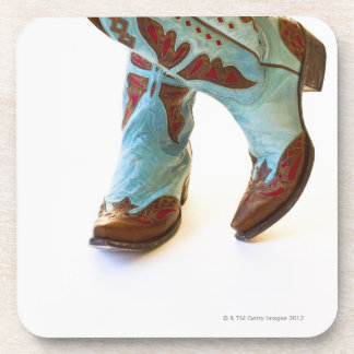 Pair of cowboy shoes 3 drink coaster