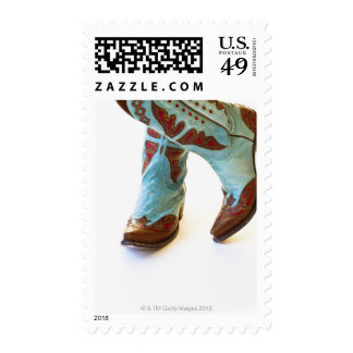 Pair of cowboy shoes 3 postage stamps