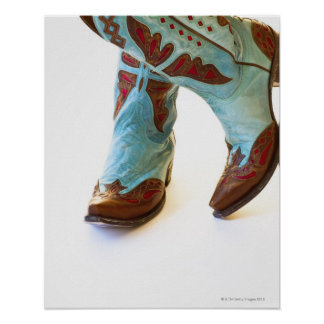 Pair of cowboy shoes 3 poster