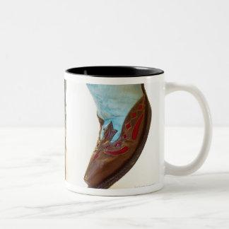 Pair of cowboy shoes 3 Two-Tone coffee mug