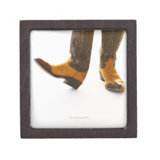 Pair of cowboy shoes gift box