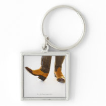 Pair of cowboy shoes keychain