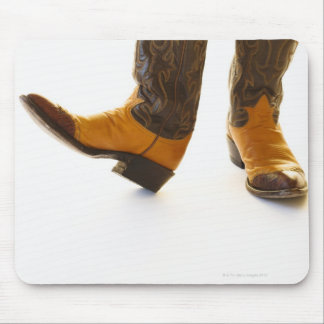 Pair of cowboy shoes mouse pad