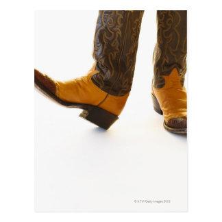 Pair of cowboy shoes postcard