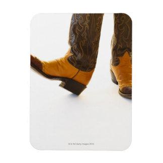 Pair of cowboy shoes rectangular photo magnet