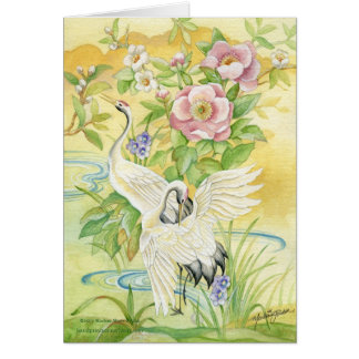 Pair of Cranes Birthday Notecard