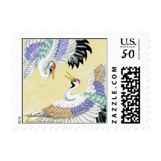 Pair of Cranes S Postage