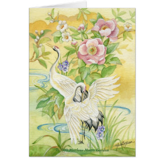 Pair of Cranes Thank You Notecard
