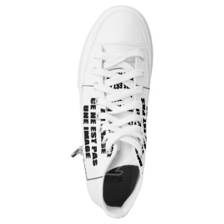 pair of custom High Top ZIPZ® shoes Printed Shoes