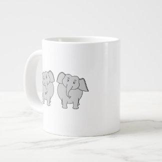 Pair of Cute Elephants. Couple. Giant Coffee Mug