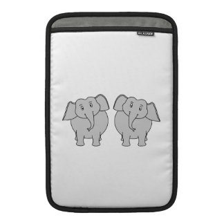 Pair of Cute Elephants. Couple. MacBook Air Sleeve