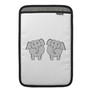 Pair of Cute Elephants. Couple. Sleeve For MacBook Air