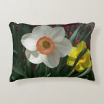 Pair of Daffodils Pink and Yellow Spring Flowers Decorative Pillow