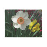 Pair of Daffodils Pink and Yellow Spring Flowers Doormat