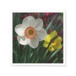 Pair of Daffodils Pink and Yellow Spring Flowers Paper Napkin