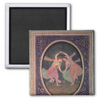 Pair of dancing girls performing a Kathak Magnet