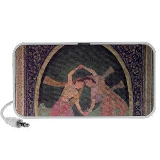 Pair of dancing girls performing a Kathak Portable Speaker