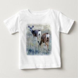 Pair of Deer in Grassy Field Baby T-Shirt