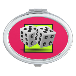 Pair of Dice Compact Mirror