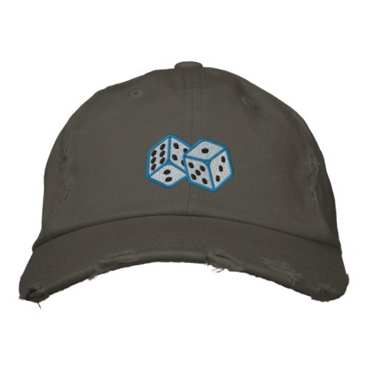 Pair of dice embroidered men's hat