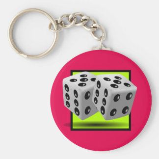 Pair of Dice Key Chain