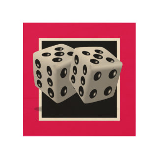Pair of Dice Wood Canvas