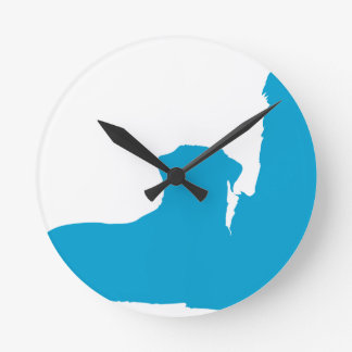 Pair of Dogs Round Clock