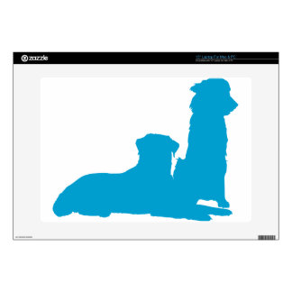 "Pair of Dogs Skin For 15"" Laptop"