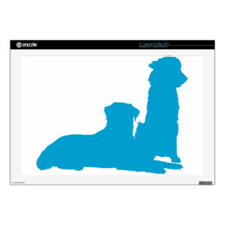 """Pair of Dogs Skin For 17"""" Laptop"""