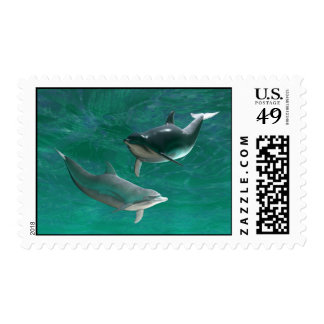 Pair of Dolphins-Delphindae Stamps