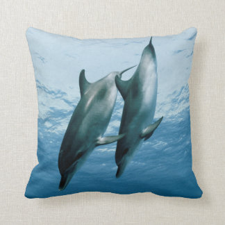 Pair of Dolphins Throw Pillow
