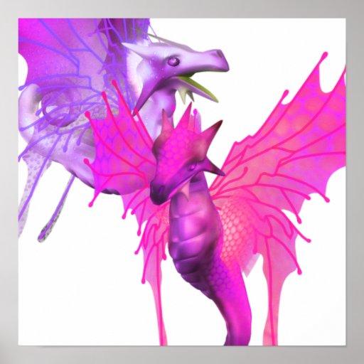 Pair of Dragons Poster