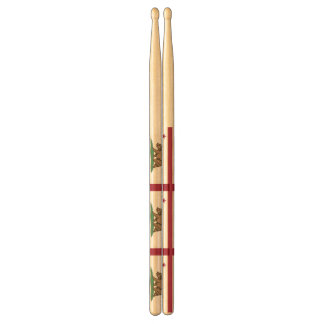 Pair of drumsticks with Flag of California