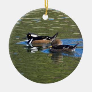 Pair of Ducks Ceramic Ornament