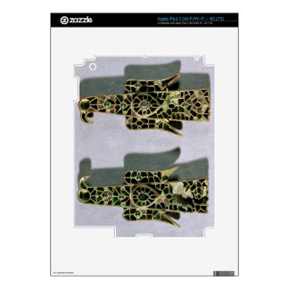 Pair of Eagle-Shaped Brooches (metal and enamel) Skin For iPad 3